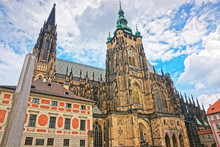 Saint Vitus Cathedral In The Old Town Of Prague