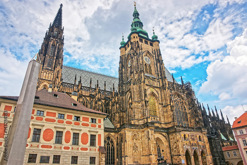 Fotografie, Obraz  Saint Vitus Cathedral in the old town of Prague