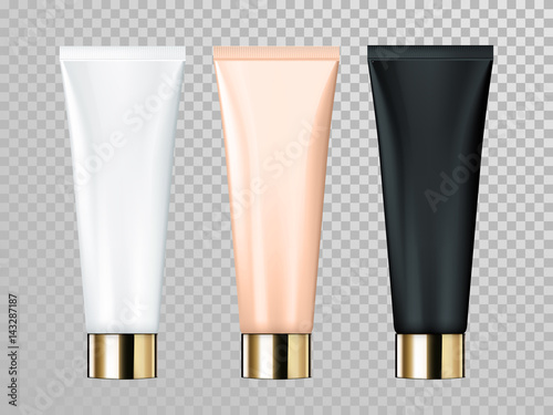 Fotografia Cream or lotion tube isolated vector skin care cosmetic package template