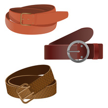 Set Of Leather Waist Belts Iso...