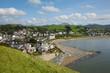 Criccieth Wales UK welsh coast town beach and sea