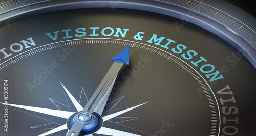 Obraz na plátně Vision & Mission / Compass