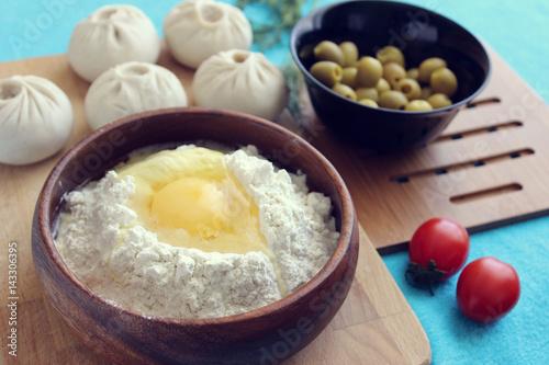 Fototapeta Buryat cuisine. obraz na płótnie