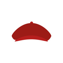 Golfer Hat Isolated Icon Vecto...