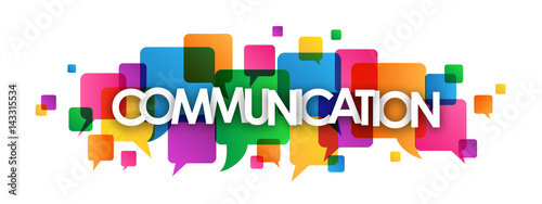 COMMUNICATION Icon with Speech Bubbles
