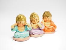 Three Little  Buddha Who Hear Speak And See No Evil