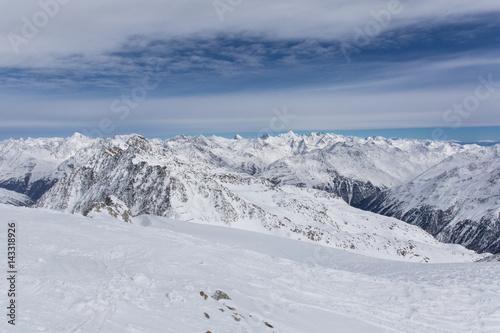 Foto op Plexiglas Landschappen Alps Panorama in Solden, Austria