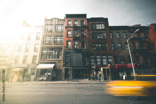 Staande foto New York TAXI SoHo street during Daytime - New York