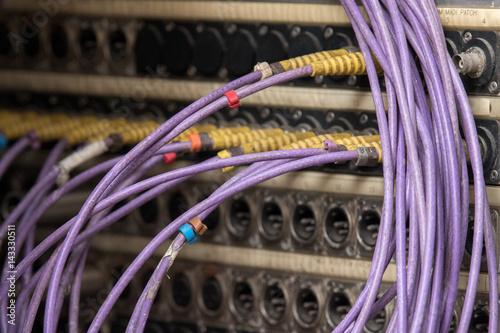 Fotografía  Broadcast live tv cables detail