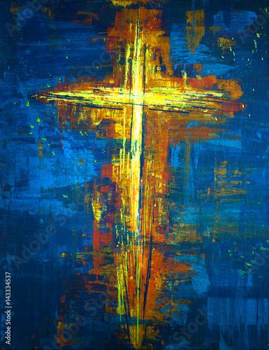 zolty-abstrakcyjny-krzyz