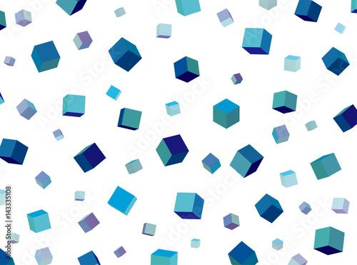 niebieskie-szesciany-na-bialym-tle