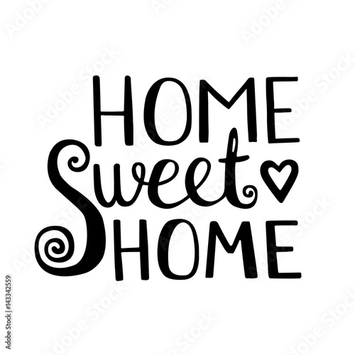 Home Sweet Home lettering Canvas Print