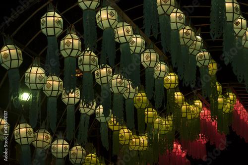 Native lantern / View of native lantern at night. Poster