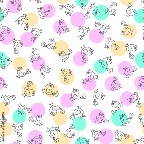kreskowkowe-dzieciece-tlo-w-pastelowych-kolorach-przedstawiajace-male-ptaszki