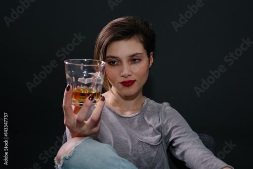 Fotografie, Obraz  Young alcoholic