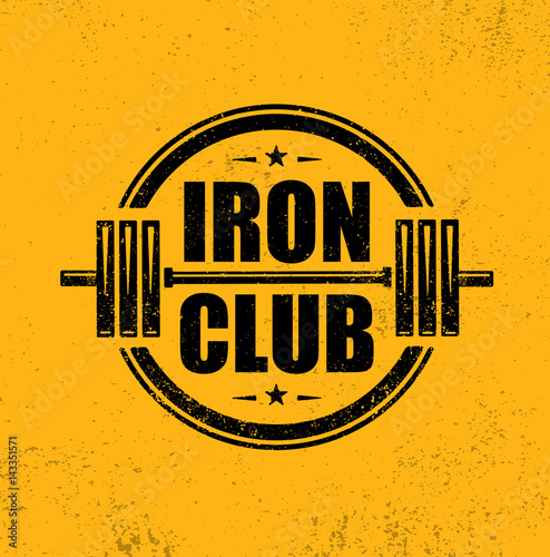Iron Club Fitness Sport Club Canvas Print