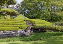 Representation Of Mt. Fuji In The Momijiyama Japanese Garden, Shizuoka, Japan