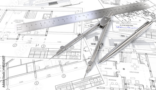 Building plans generic architectural blueprints drawings and building plans generic architectural blueprints drawings and sketches ruler pen and divider malvernweather Image collections