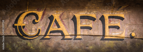 Retro Grungy Cafe Sign