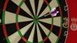 happy, darts hit the bullseye