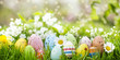 canvas print picture - beautiful easter banner
