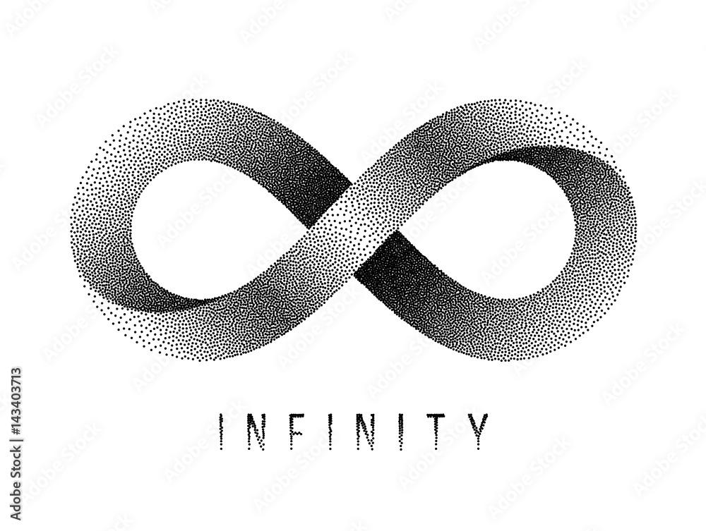Photo Art Print Stippled Infinity Sign Mobius Strip Symbol