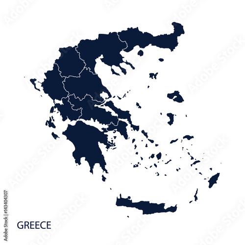 Fotografie, Tablou  Map of Greece