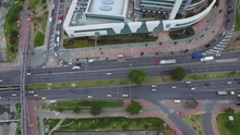 Aerial Cityscape Bogota Colombia Shopping Mall