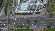 Aerial Cityscape Shopping Mall Bogota Colombia