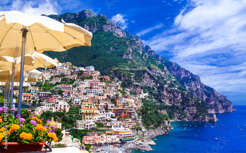 Ingelijste posters Kust Luxury Italian holidays - beautiful Amalfi coast, Positano