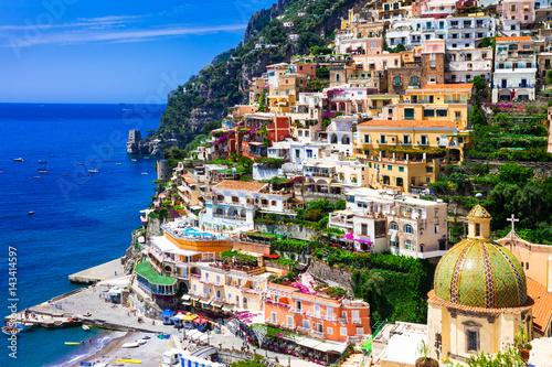 Poster Cote Beautiful colorful Positano town - scenic Amalfi coast of Italy
