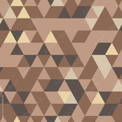 Cotton fabric Khaki seamless pattern with triangular protection ornament