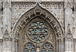 canvas print picture - gothic gate8