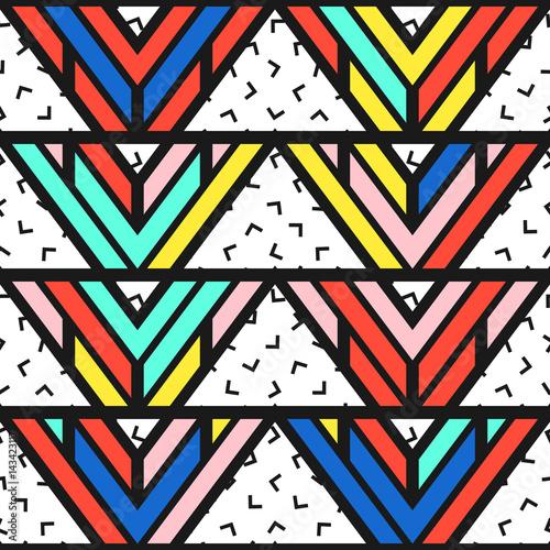 Fotobehang ZigZag Colorful bright seamless pattern