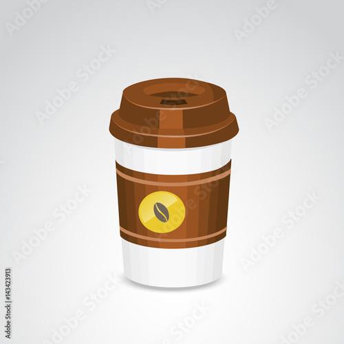 Take away coffee plastic mug  Vector art  - Buy this stock