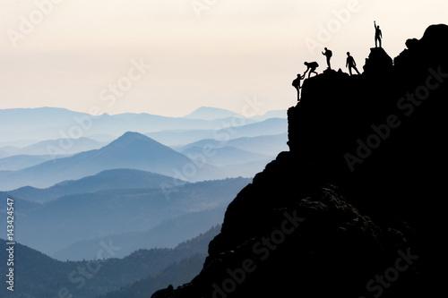 Fotografie, Obraz  kaya tırmanışı & dağcılık & dağcı yardımlaşması