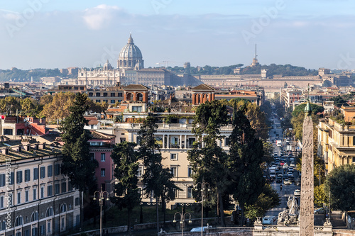 Photo  Rome, Italy. View of the city from the Piazza del Popolo