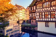 Autumn Cityscape Of Strasbourg...