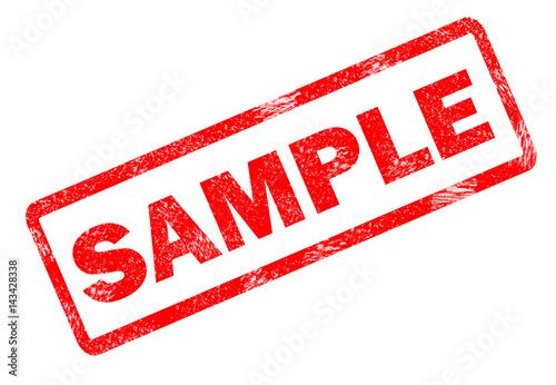 Photo sample stamp on white background. sample stamp sign.