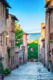 Fototapeta Fototapeta uliczki - Certaldo Italy