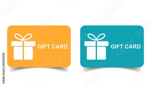 Fotografia  Gift card. Discount coupon. Flat vector illustration