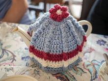 Vintage Style Teapot And Knitt...
