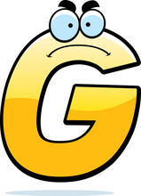Angry Cartoon Letter G