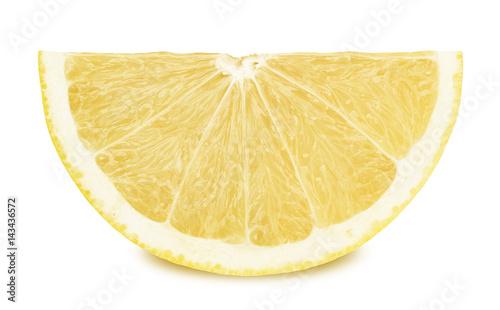 Slice of white grapefruit isolated on a white background