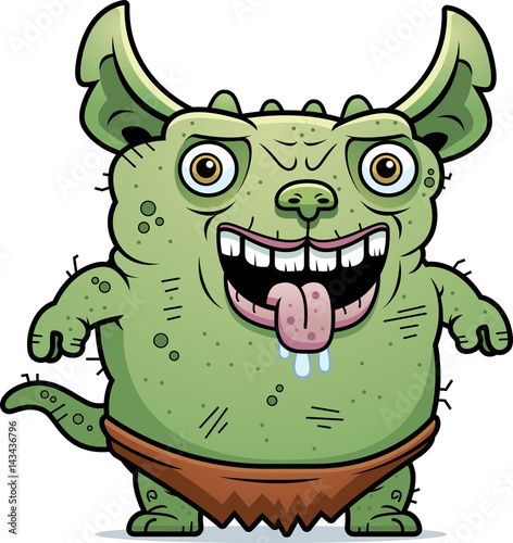 Ugly Gremlin Standing Canvas Print