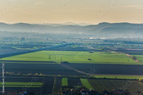 Foto op Canvas Groen blauw Spring landscape