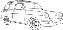 Car Illustration Of A Volkswagon Type 3 Station Wagon