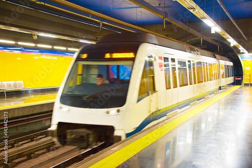 Zdjęcie XXL Stacja metra Madryt. Hiszpania