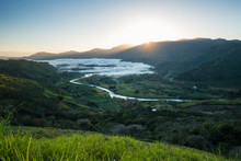 Valley Of Orosi At Sunrise. Co...