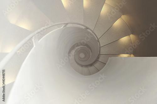 Foto op Plexiglas Trappen Blick auf eine Wendeltreppe